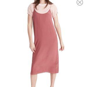 NWT Madewell Silk Tie-Back Slip Dress (0)